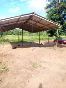 Temporary church in Okortobu.